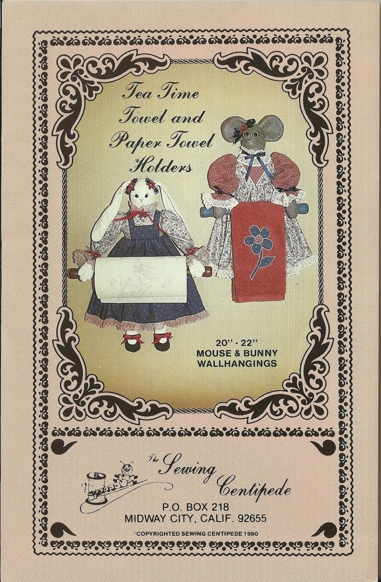 Tea paper towel holders mouse bunny wallhangings pic