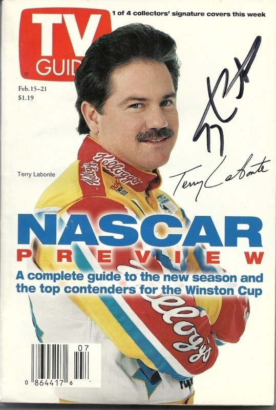 FEBRUARY 1997 NASCAR EDITION OF TV GUIDE MAGAZINE TERRY LABONTE COVER SIGNED