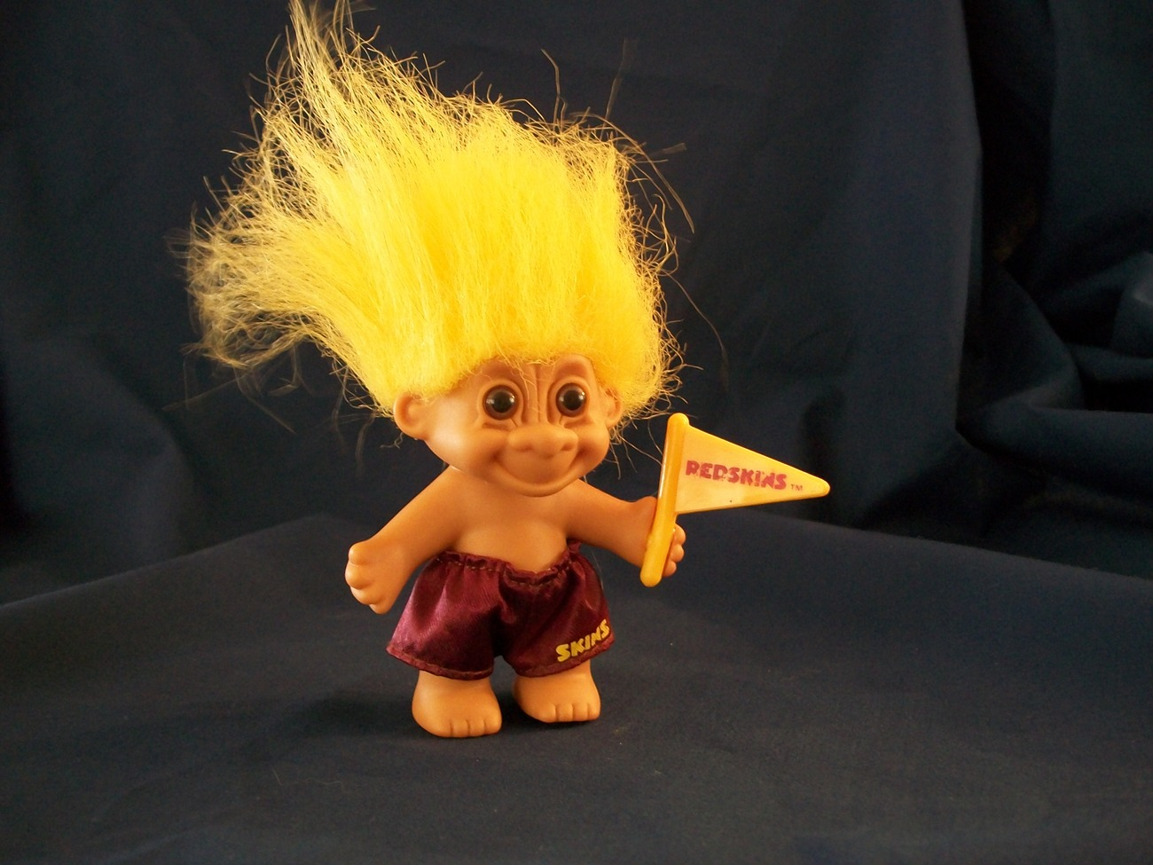 Cute Russ Redskins Good Luck Troll Doll