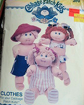 Butterick 360 Vintage70s  Cabbage Patch Dolls Clothes Swimwear Pattern - $9.95