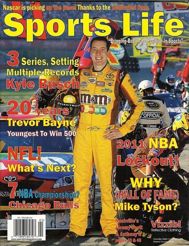 KYLE BUSCH COVER JULY 2011 SPORTS LIFE MAGAZINE