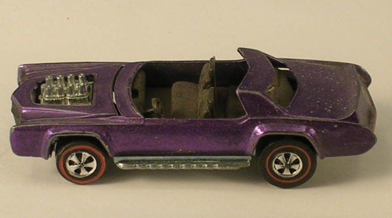Hot Wheels 1969 Purple Sugar Caddy  Red Line Wheels - For Parts or Repair