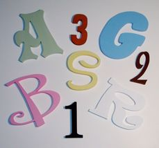8 inch Painted Wood Letters Wooden Letters Wall Letters ALSO CUSTOM SIZES - $6.75