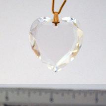 Swarovski Clear Crystal Flat Heart Prism image 3