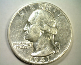 1941-D WASHINGTON QUARTER ABOUT UNCIRCULATED+ AU+ NICE ORIGINAL COIN BOB... - $18.00