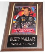 1996 RUSTY WALLACE TRADING CARD AUTOGRAPHED - MOUNTED & READY FOR DISPLAY - $50.00
