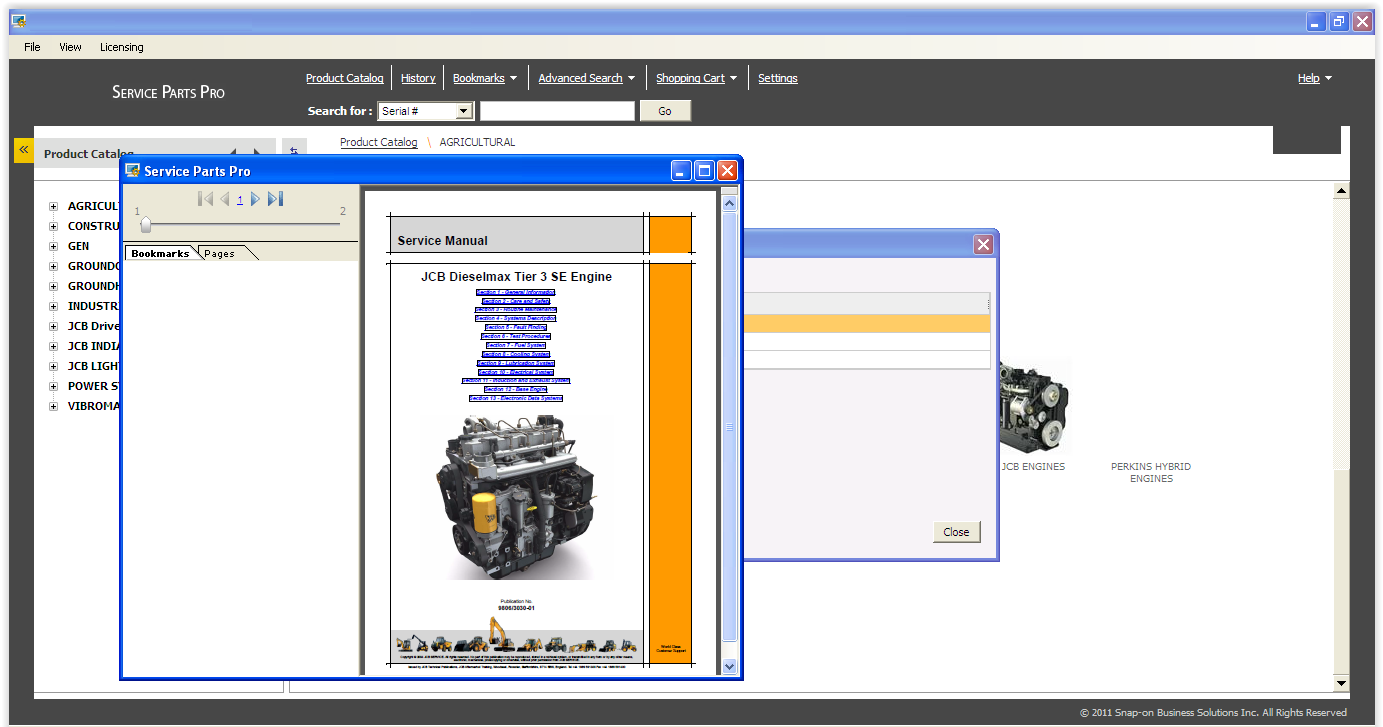 jcb dieselmax tier 3 se engine service manual
