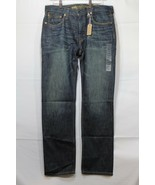 NEW Men's AE Slim Straight Jeans Dark Blue Wash American Eagle 33 x 32 AEO - $24.94