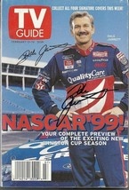 FEBRUARY 1999 NASCAR EDITION OF TV GUIDE MAGAZINE DALE JARRETT COVER SIGNED - $45.00