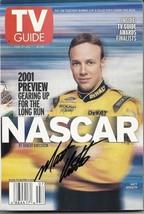 FEBRUARY 2001 NASCAR EDITION OF TV GUIDE MAGAZINE MATT KENSETH COVER SIGNED - $50.00