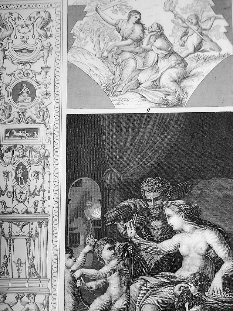 ITALY ART of Raphael Romano Cortona Caracci del Sarto - 1844 Superb Print