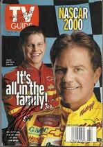 FEBRUARY 2000 TV GUIDE MAGAZINE JUSTIN LABONTE & TERRY LABONTE COVER SIGNED - $40.00