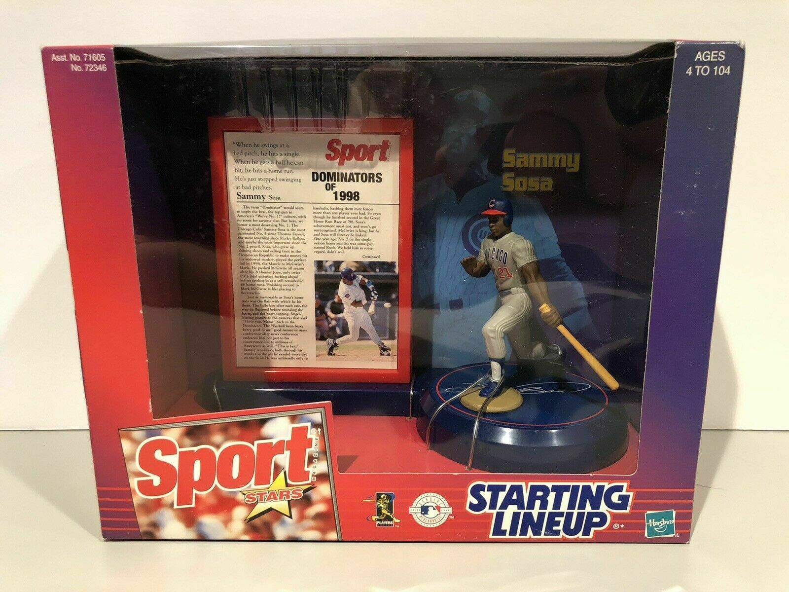 Primary image for Sammy Sosa Chicago Cubs Sport Stars Starting Lineup Figure NIB 1999 NIP