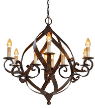 CURREY & CO. COMPANY Gramercy Chandelier # 9528, Iron with Mayfair Finis... - £970.82 GBP