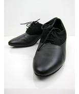 Black Suede Diamant Leather Jazz Dance Shoes - $45.00