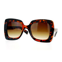Womens Designer Sunglasses Oversized Fashion Square Beveled Frame - $9.85+