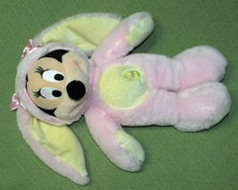 DISNEY STORE BABY Pink Easter Bunny & Mrs. Santa Claus Minnie Mouse Plush Dolls image 11