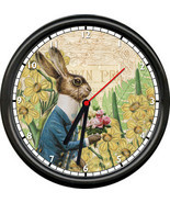French Bunny Vintage Rabbit Spring Flowers Garden Sunflowers Sign Wall C... - $21.12