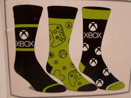 xbox x box Crew Socks 3 Pair Pack Men's Shoe Size 8 to 12 - $11.49