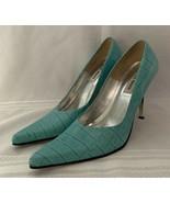 Steve Madden Tarrah Aqua Blue High Heel Pump Point Toe Sz 9.5B - $43.00