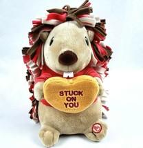"Hallmark Hedgehog 9"" Plush Porcupine Singing Dancing Valentines Day Stuc... - $21.76"