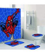 4pcs Bathroom Shower Curtain Nonslip Bath Mat Pedestal Toilet Seat Cover... - $42.99