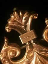 Vintage 30s Gold Plated Fleur De Lis Brooch/Pendant image 3