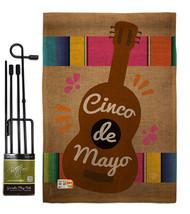 Celebrate Guitarron Cinco De Mayo Burlap - Impressions Decorative Metal Garden P - $33.97