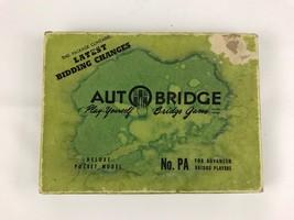 Vintage AutoBridge Play Yourself Bridge Game Deluxe Pocket Model No. PA Advanced - $11.97