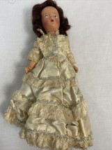 Antique 1940s Bride Doll in Original Clothing, Bakelite, Composite - $33.24