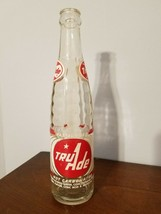 Vintage Tru Ade ACL Not Carbonated 10 oz Glass Soda Pop Bottle - $7.92