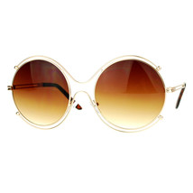 Double Metal Rim Round Circle Frame Womens Oversized Sunglasses UV 400 - $9.95