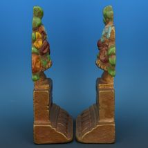 Vintage Albany Foundry Cast Iron Bookend Matched Doorstop Flower Urn Pair image 4