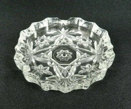 "Vintage Anchor Hocking Early American Prescut Ashtray Clear Glass 4""  - $16.82"