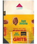 "1960's Aunt Jemima White Hominy Grits Bag ""Unused"" - $6.85"
