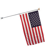 "Steel Flag Pole & Bracket, 68"" Heavy Duty Indoor / Outdoor Bald Eagle Cap - $19.99"