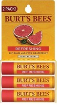 Lip Balm Refreshing with Pink Grapefruit 3  Pack / 0.15 oz each Balm Bur... - $12.86