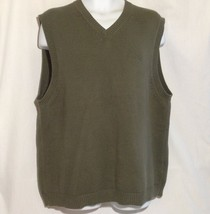 Eddie Bauer Men's Sweater Vest Knit Hunter Green Size Tall XL - $9.49