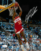 Dominique Wilkins signed Atlanta Hawks 8x10 Photo (reverse dunk)- JSA Wi... - $33.95