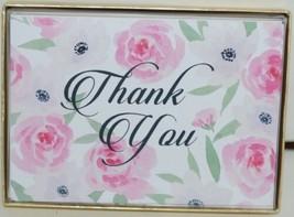 Caspari 89614 48 Flora Foil Blank Inside 6 Thank You Notes and Envelopes image 1