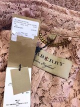 100% AUTH NEW BURBERRY PINK LACE LADIES TRENCH COAT JACKET image 5