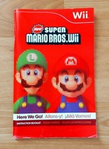 New Super Mario Bros Wii Game Manual Instruction Booklet Only - $5.99