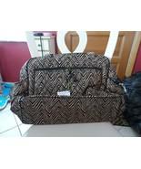 Vera Bradley large stroll around baby tote bag in Zebra  - $72.00