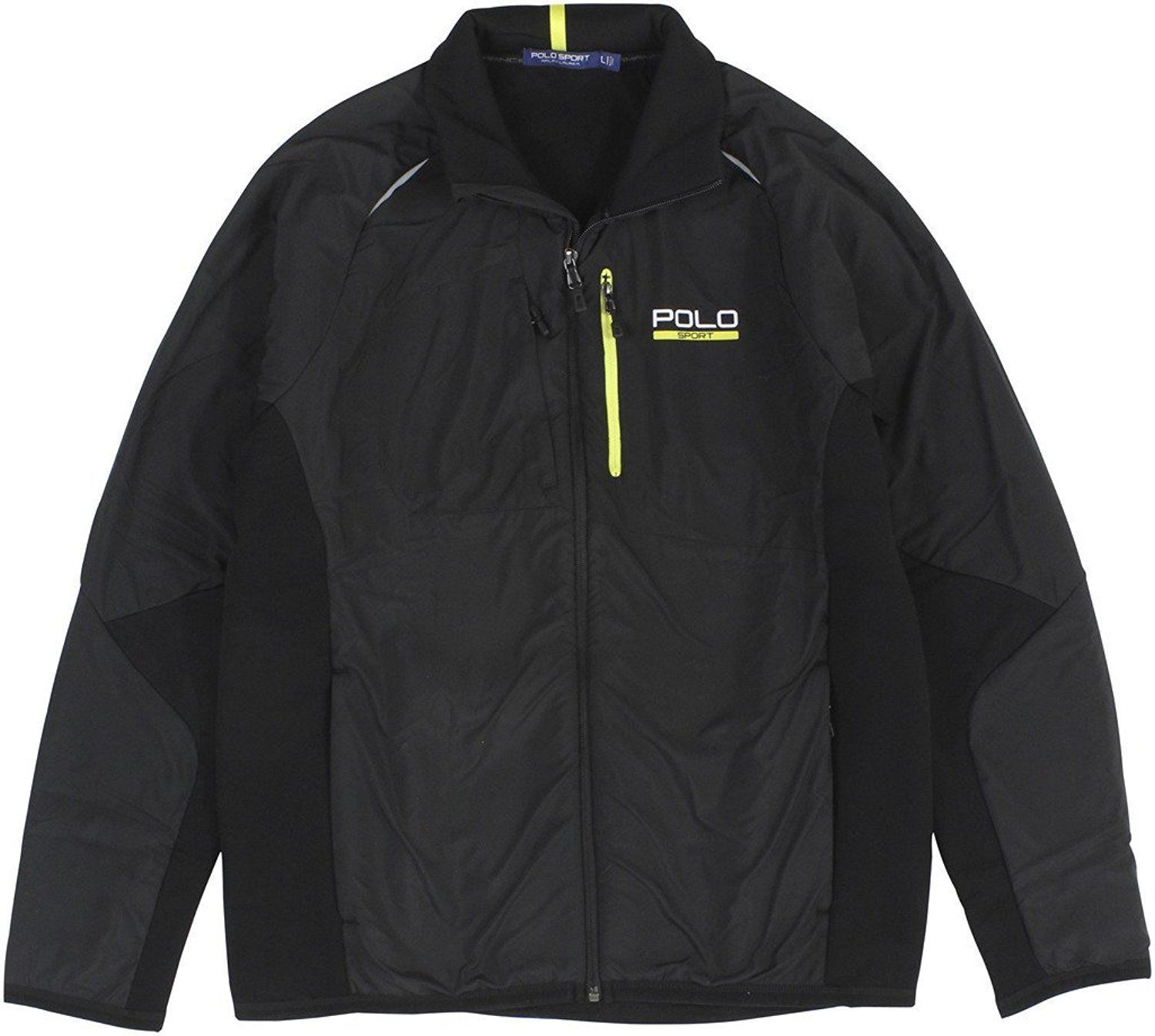 Primary image for NEW RALPH LAUREN POLO SPORT MEN'S XXL 2XL BLACK FULL-ZIP HYBRID TECH JACKET $225