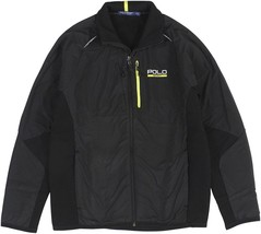 NEW RALPH LAUREN POLO SPORT MEN'S XXL 2XL BLACK FULL-ZIP HYBRID TECH JACKET $225 - $157.79