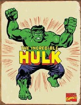The Incredible Hulk Retro Comic Art Vintage Weathered Tin Sign Poster NEW UNUSED - $5.94