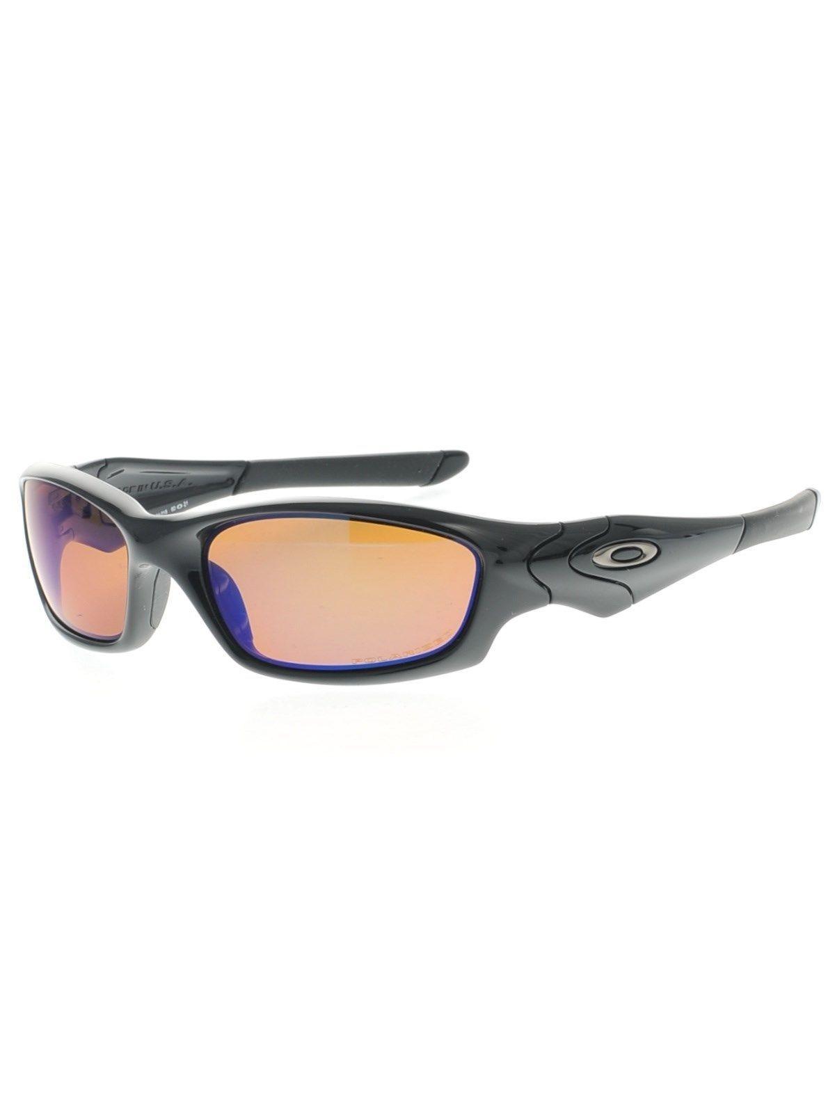 Nuevo Oakley Chaqueta Recta Negro Pulido Wshallow Azul IRIDIO Polarizado 24-018