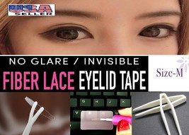 AA2+: Deluxe Invisible Fiber Lace Double Eyelid (M) 96 Pieces + Tools  - $9.88