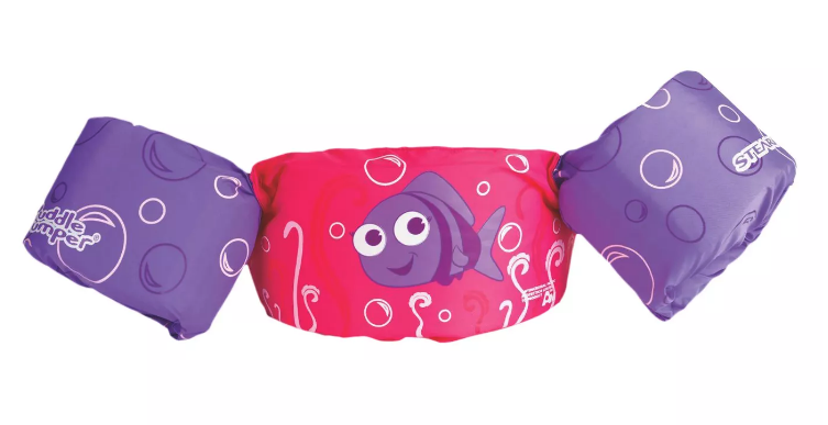 Stearns Puddle Jumper Life Jacket Purple Fish Learn to Swim Kids 30-50 lb. NEW