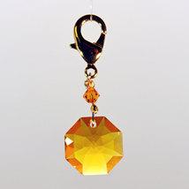 Crystal Octagon Zipper Pull image 2